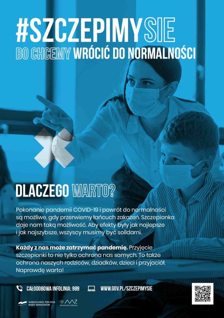 Plakat-promocja szczepień